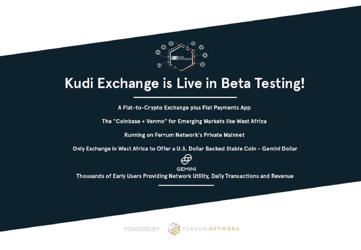 Kudi Exchange is Live in Beta Testing